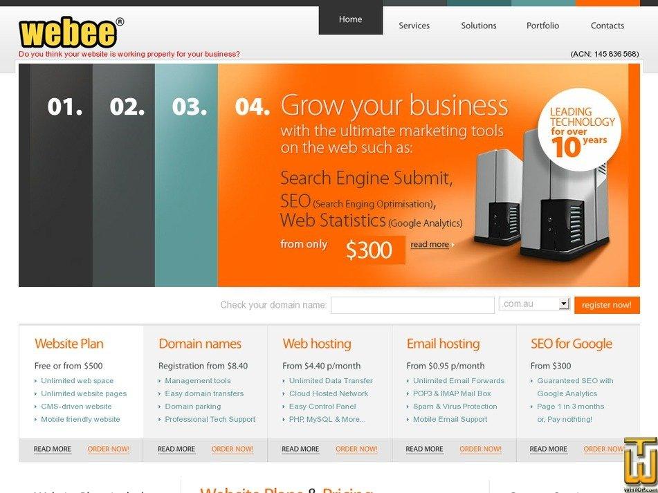webee.com.au Screenshot