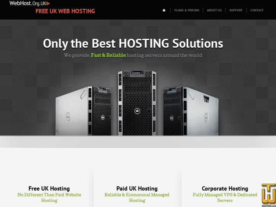 webhost.org.uk Screenshot