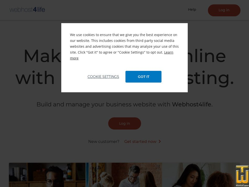 webhost4life.com Screenshot