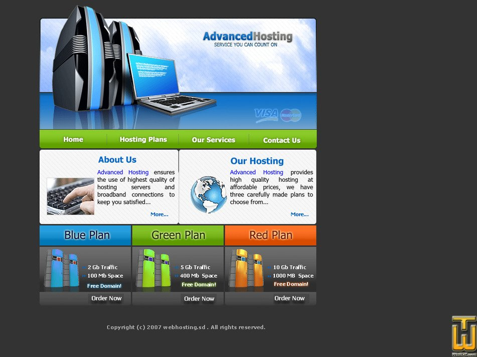 webhosting.sd Screenshot