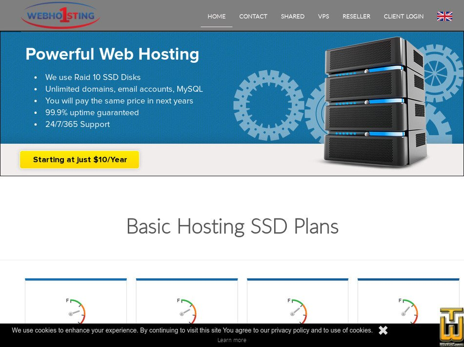webhosting1st.com Screenshot