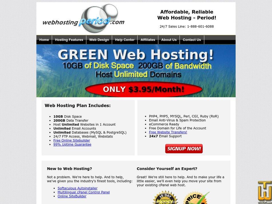 webhostingperiod.com Screenshot
