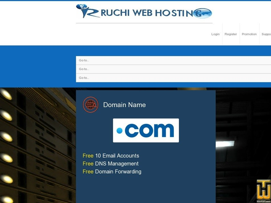 webhostingruchi.com Screenshot