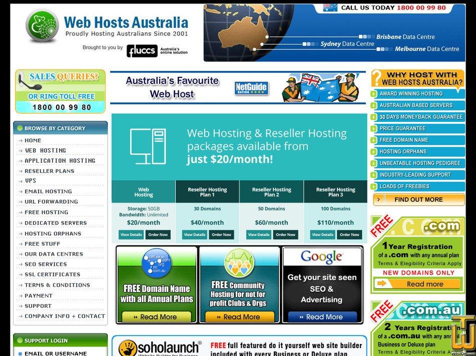 webhostsaustralia.com.au Screenshot