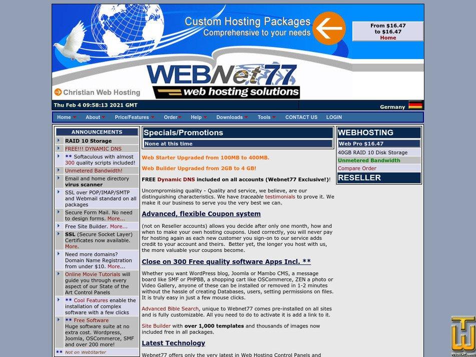 webnet77.net Screenshot