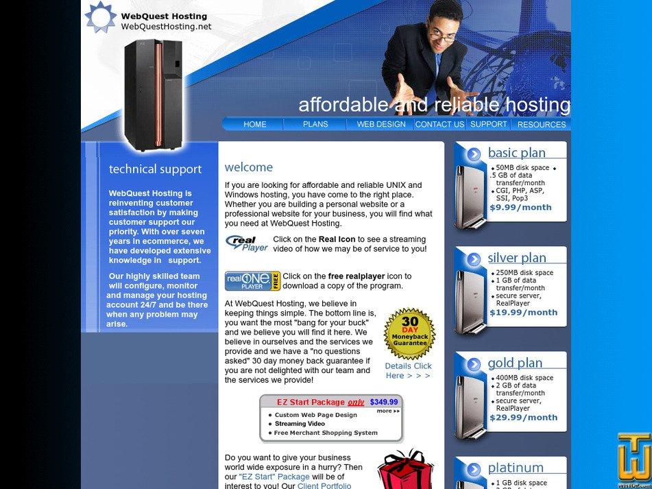 webquesthosting.net Screenshot