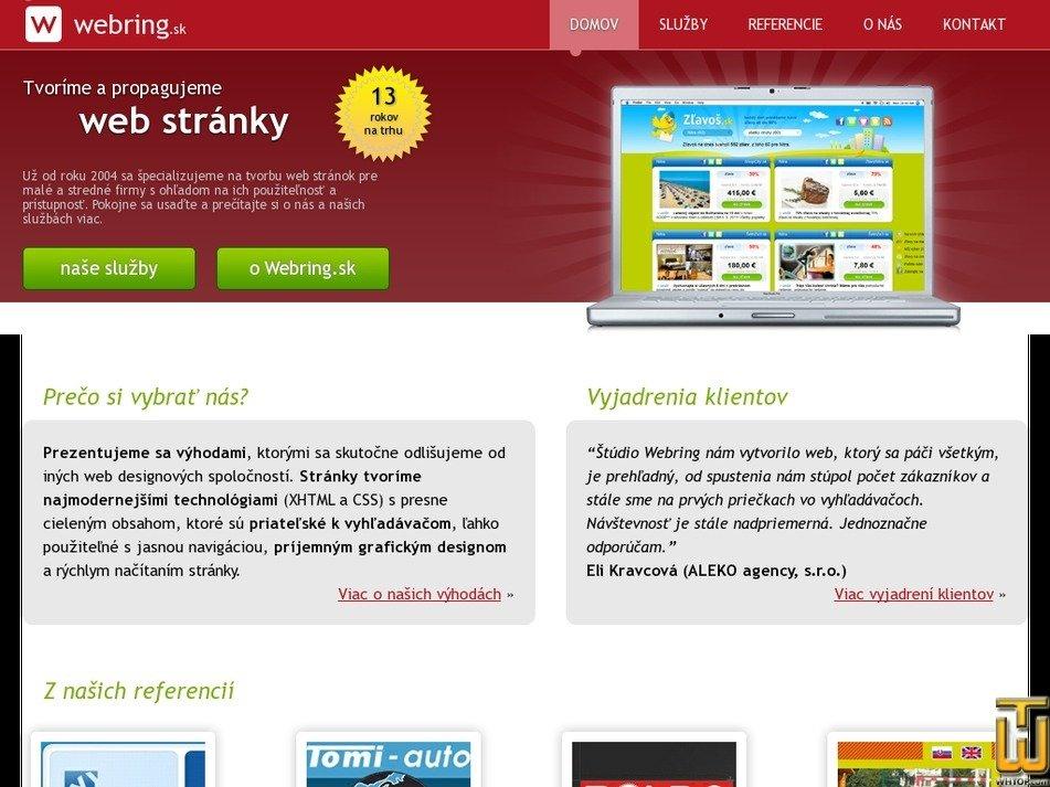 webring.sk Screenshot
