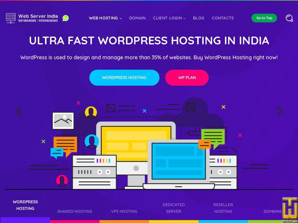 webserverindia.com Screenshot