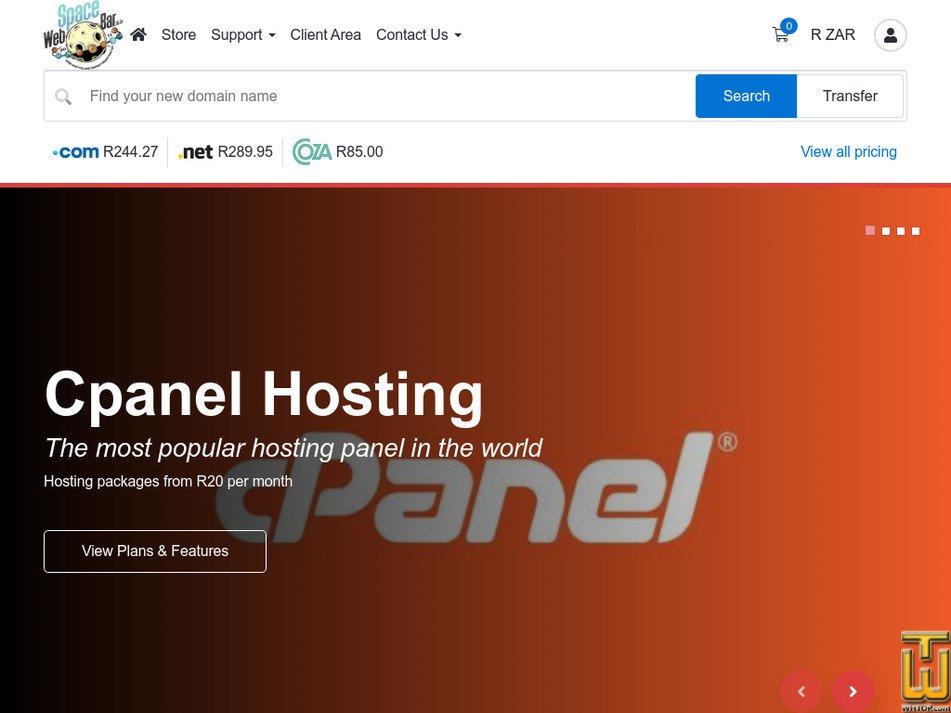 webspacebar.co.za Screenshot