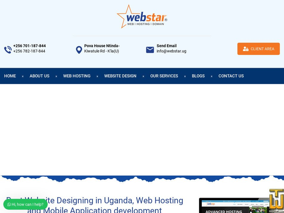 webstar.ug screenshot