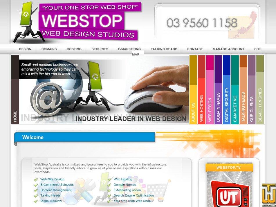 webstop.com.au Screenshot