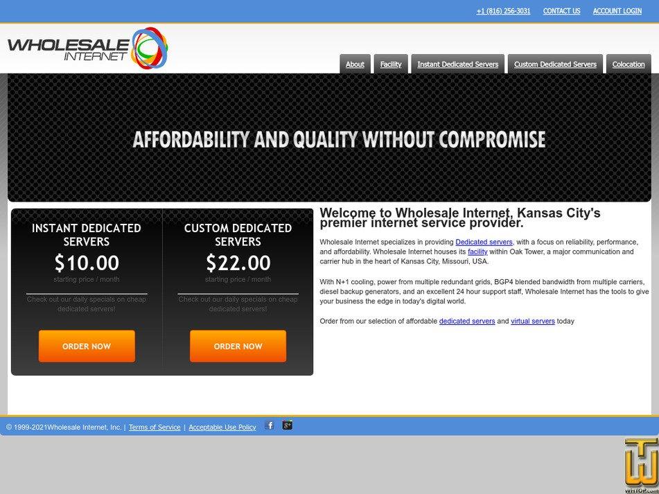 wholesaleinternet.net Screenshot