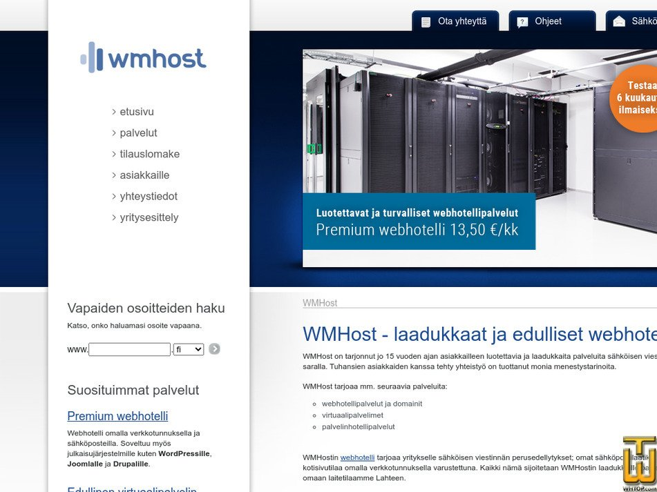 wmhost.com Screenshot