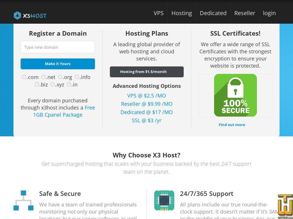 x3host.com screenshot