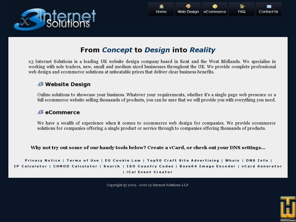 x3internetsolutions.com Screenshot