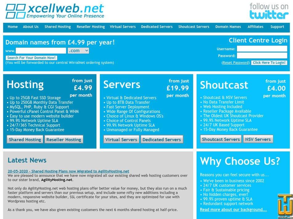 xcellweb.net Screenshot