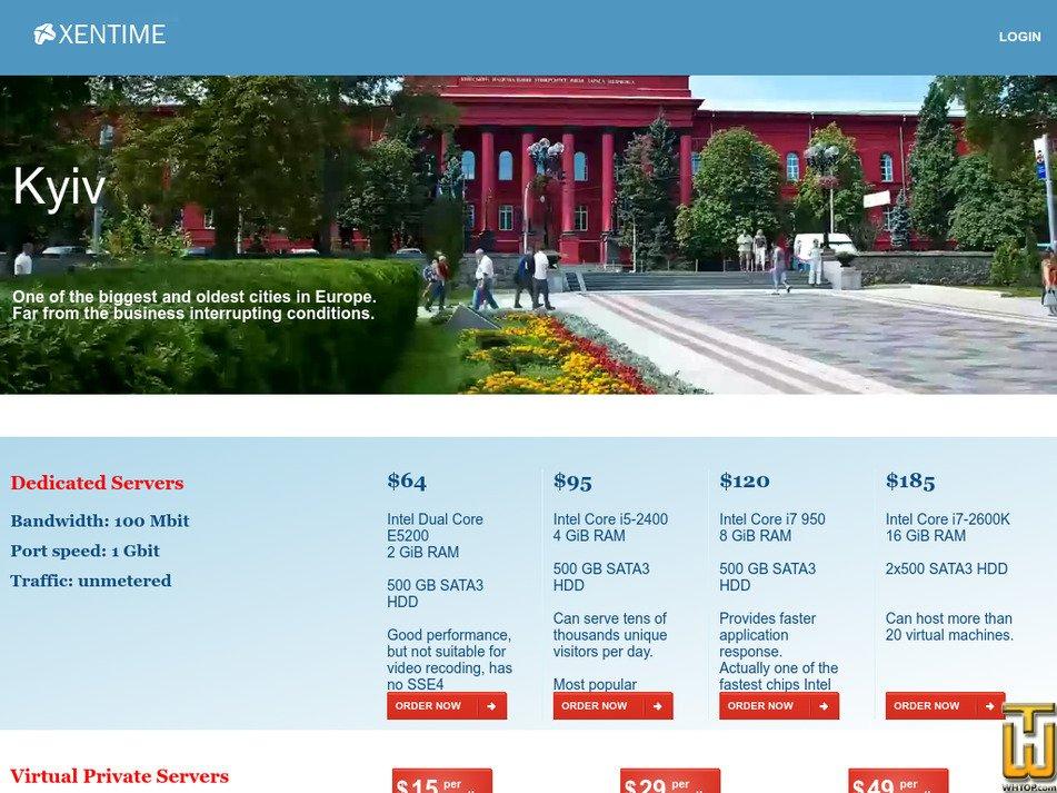 xentime.com screenshot