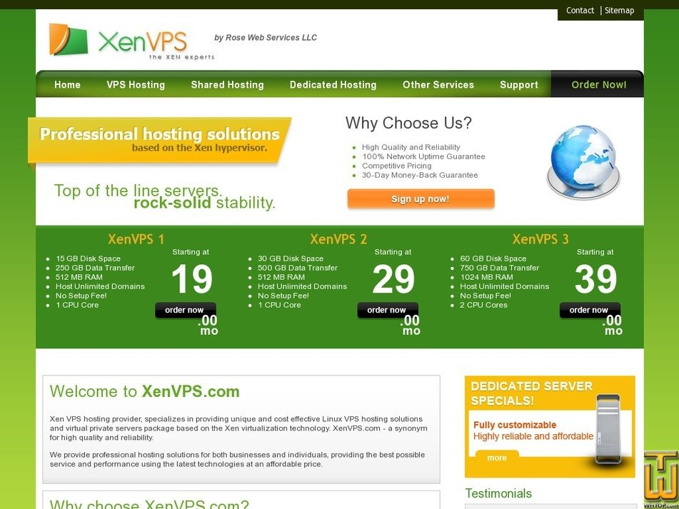 xenvps.com Screenshot
