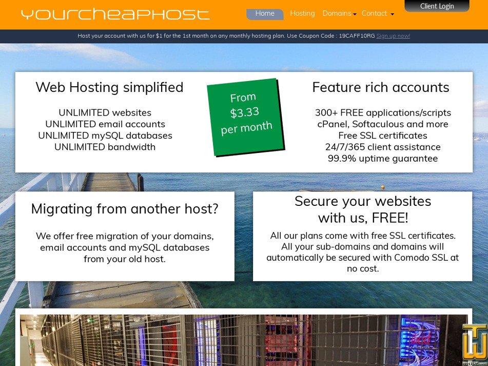 yourcheaphost.com Screenshot