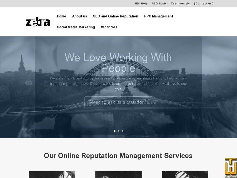 zebra.co.uk Screenshot