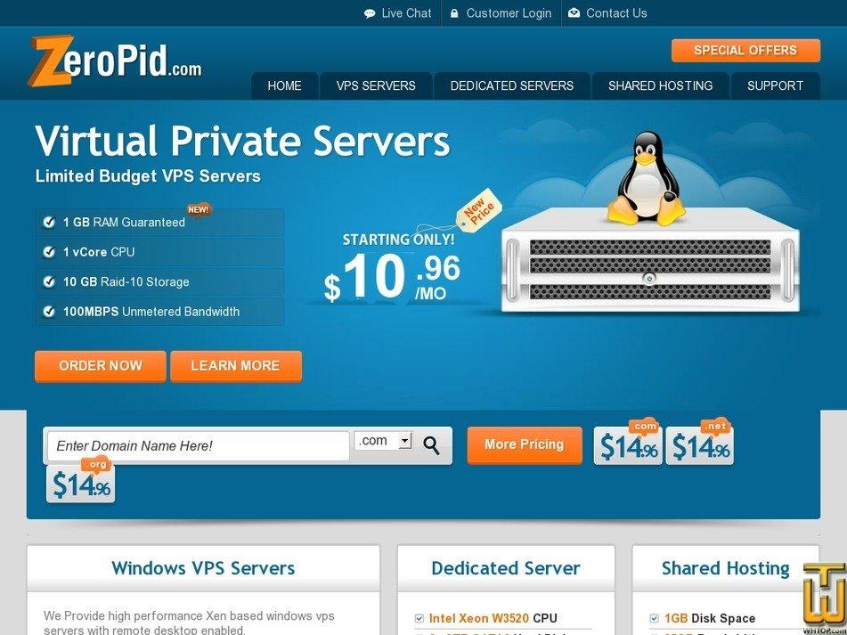 zeropid.com Screenshot