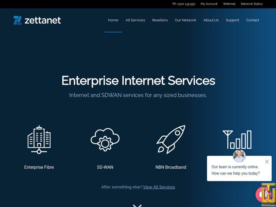 zetta.net.au Screenshot