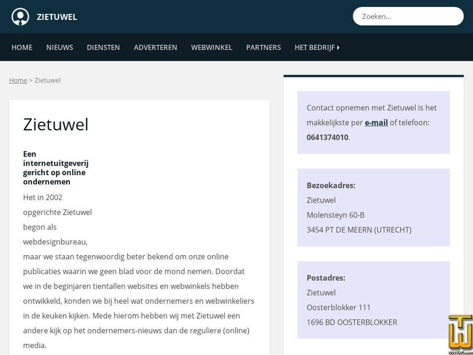 zietuwel.nl Screenshot