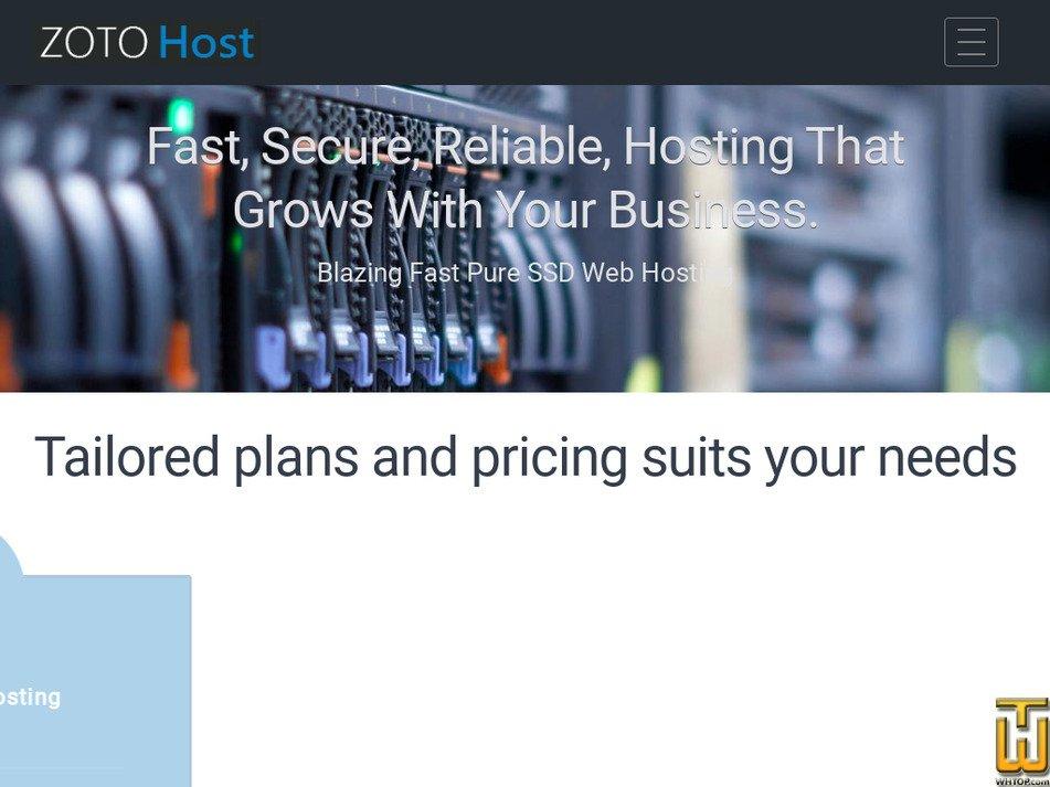 zotohost.com Screenshot