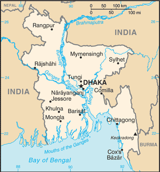 BD country map
