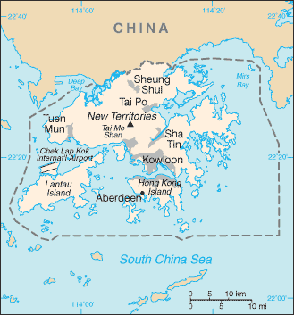 HK country map