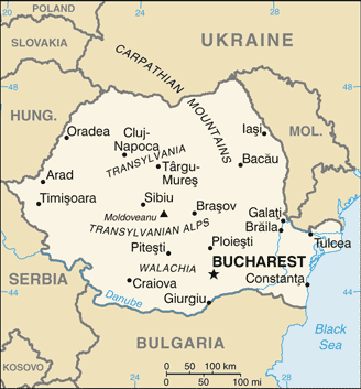 RO country map