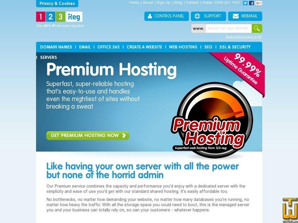 Screenshot of XL from 123-reg.co.uk