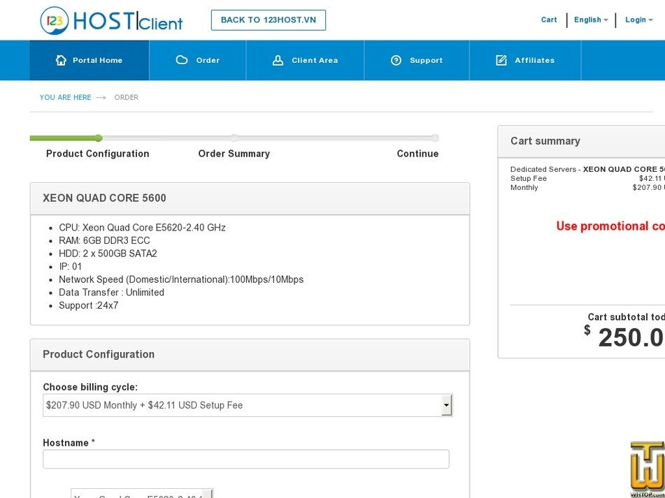 Screenshot of XEON 5600 SERIES from 123host.vn