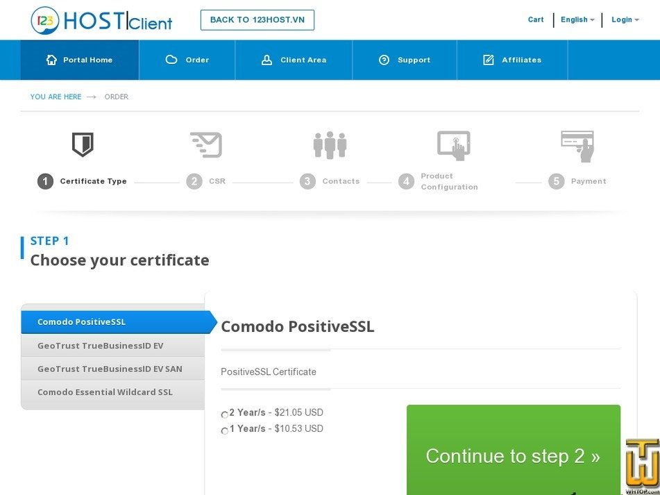 Positive Ssl From 123host Usd 1053yr On Ssl Certificates
