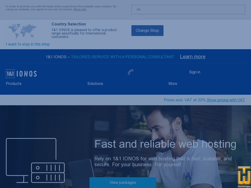 Screenshot of Expert from ionos.co.uk