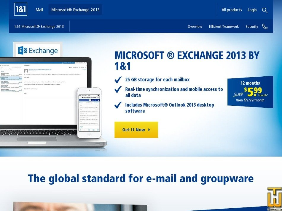 mail microsoft office 365 from 1and1 com 37700 usd 9 99 mo