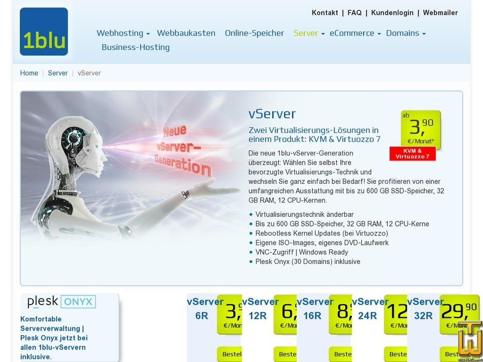 Screenshot of VServer 24R from 1blu.de