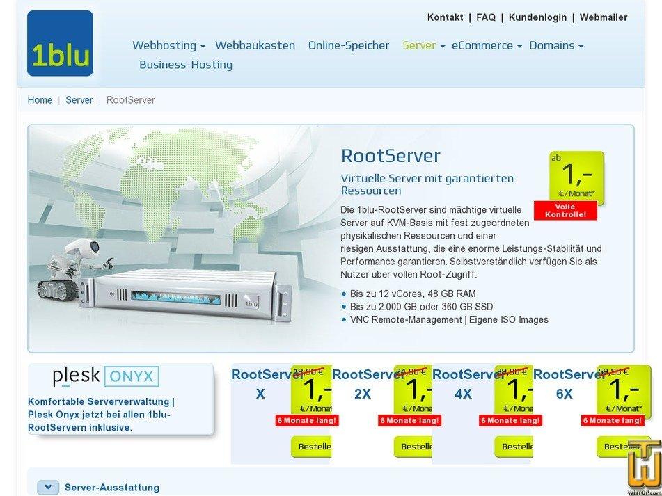Screenshot of DedicatedServer XP from 1blu.de