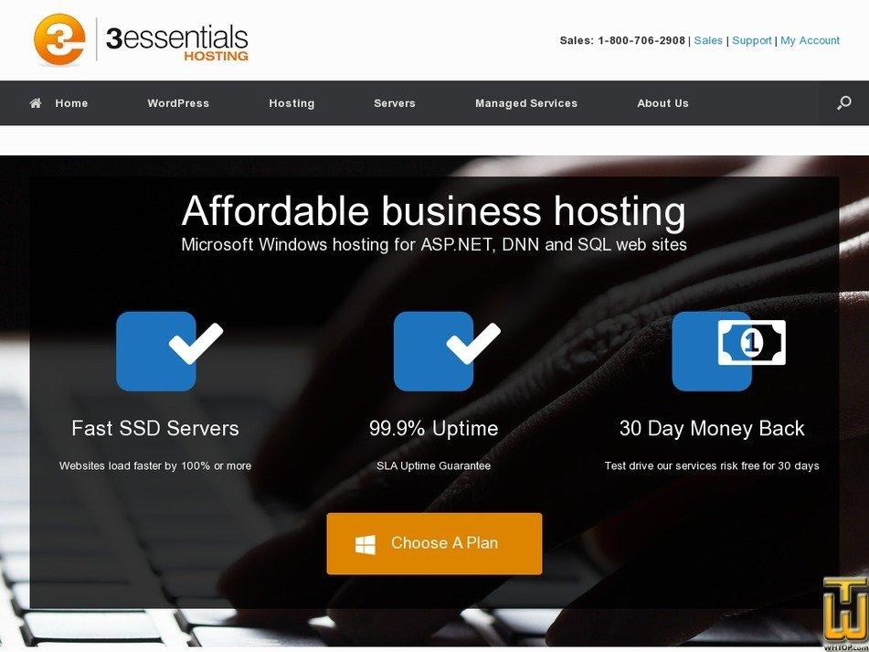 Screenshot of Pro Five from 3essentials.com