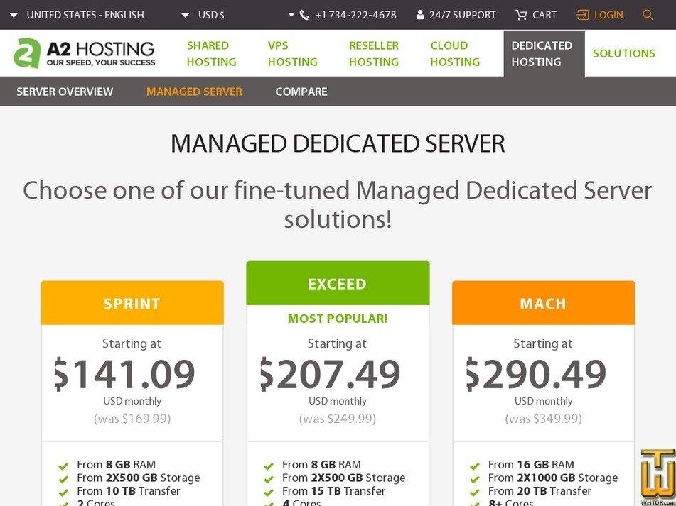 Screenshot of Sprint from a2hosting.com