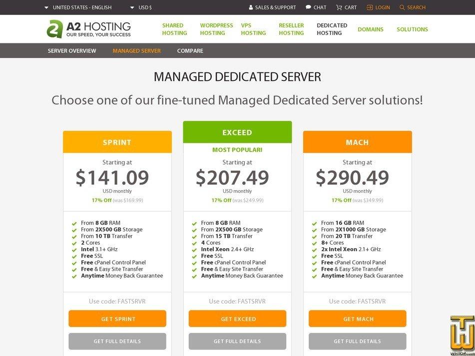 скриншот Sprint от a2hosting.com