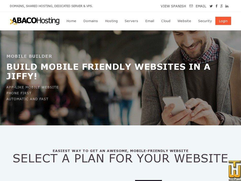 Screenshot of Impress SiteBuilder FREE! (TRIAL 30 DAYS) from abacohosting.com