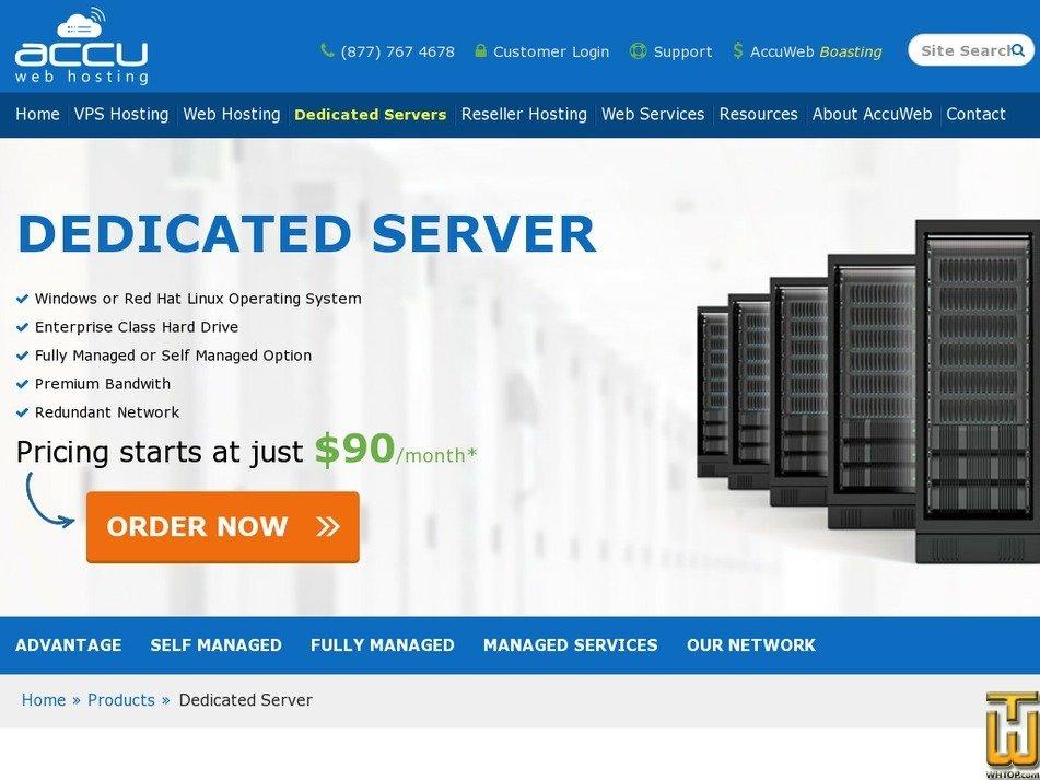 Screenshot of Xeon® Processor E3-1230 from accuwebhosting.com