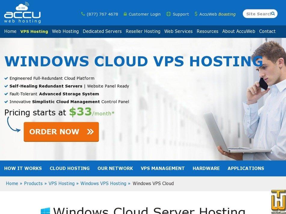 Screenshot of Windows Basic Cloud VPS from accuwebhosting.com