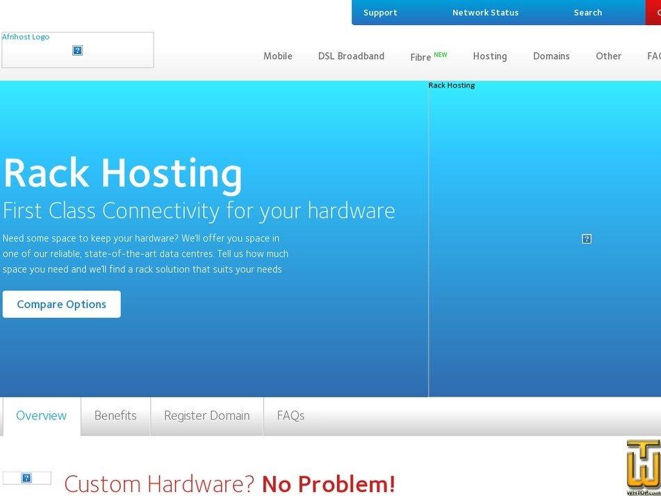 Screenshot of MyServer from afrihost.com