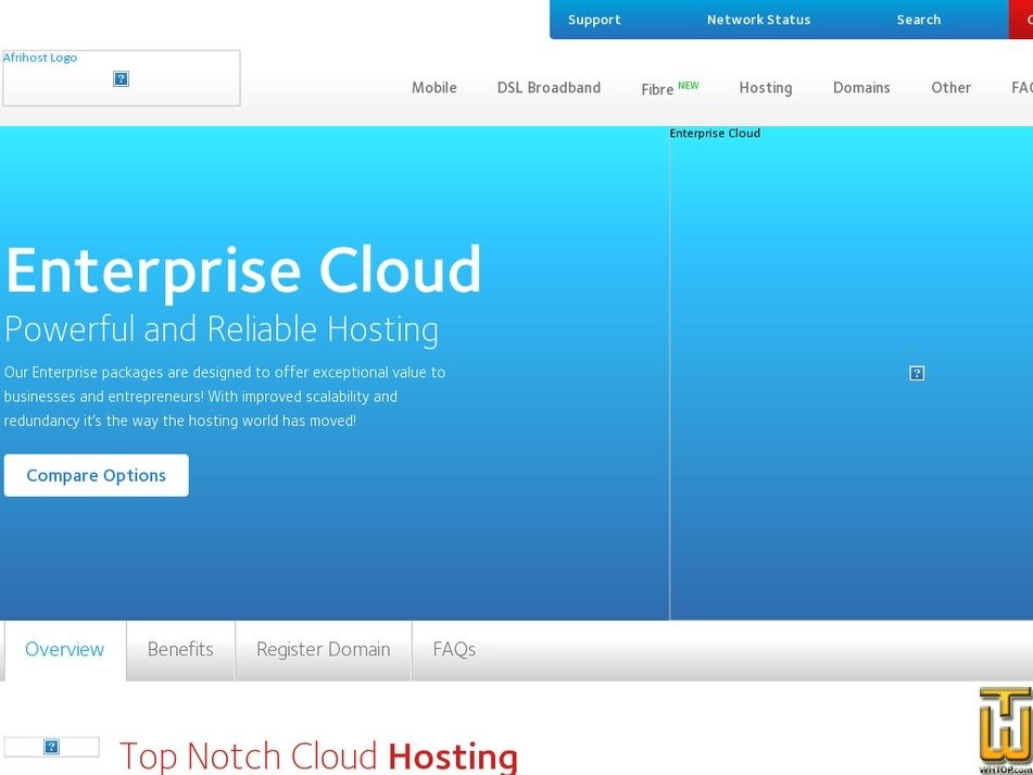 Screenshot of Silver Enterprise from afrihost.com