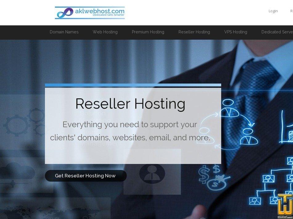 Screenshot of Reseller Hosting (PKR) from aklwebhost.com