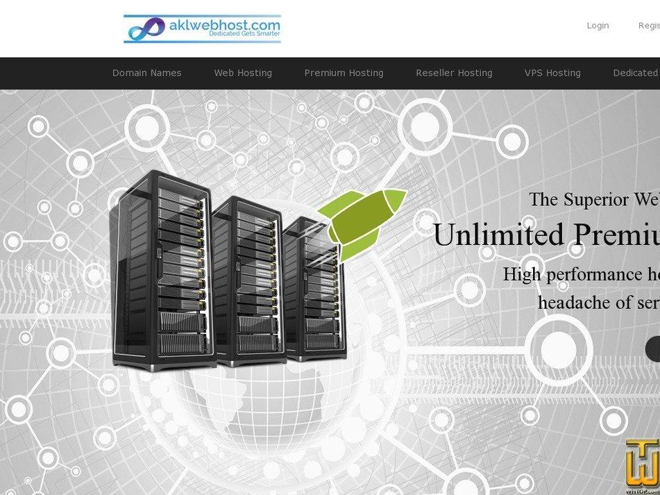 Screenshot of Premium Web Hosting (PKR) from aklwebhost.com