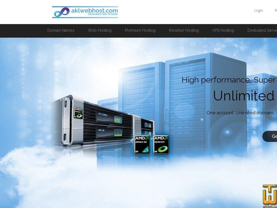 Screenshot of Unlimited Web Hosting (PKR) from aklwebhost.com