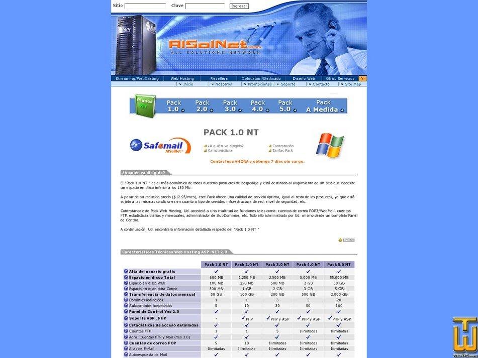 screenshot of PACK 1.0 NT from alsolnet.com